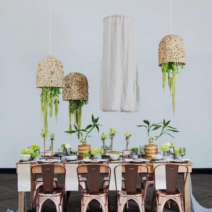 earthy contemporary tablescape from our eastmeetswest wedding styled shoot hellip