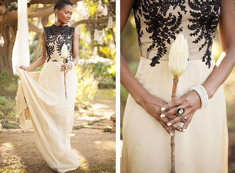 Out of africa theme wedding ninirichi style studio for Www african wedding dresses