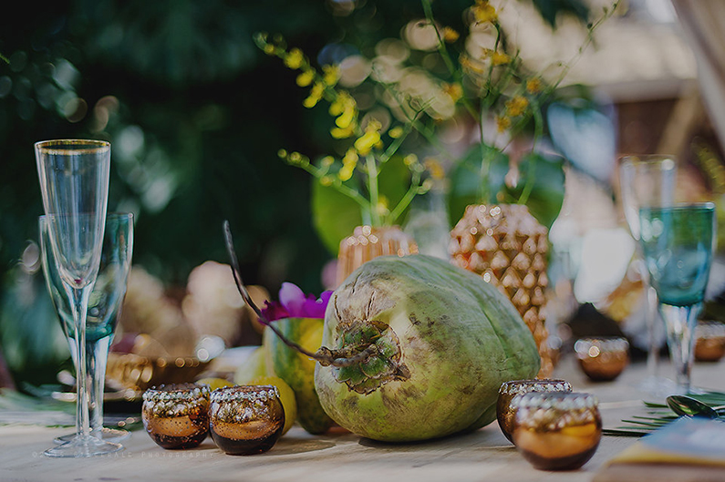 Gauguin Inspired Tropical Wedding Shoot