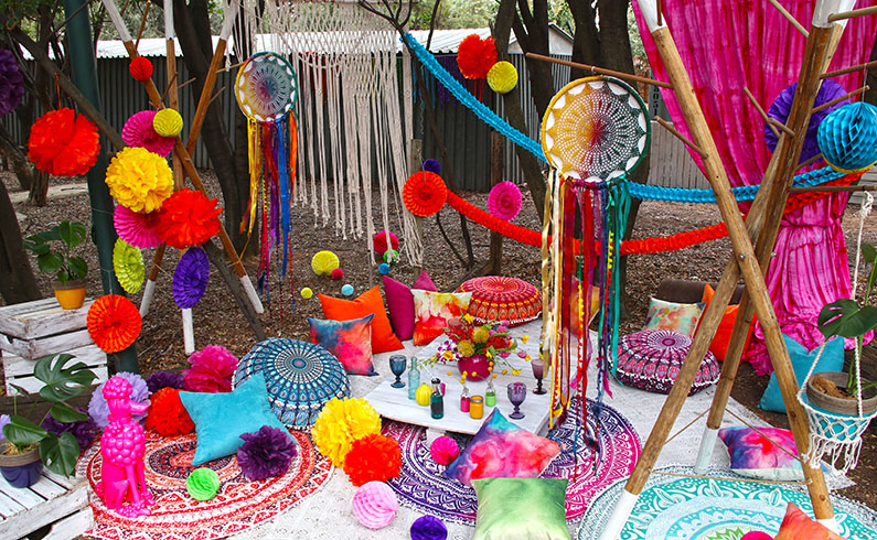 Boho Colour Festival Decor