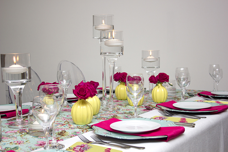 EXOTIC FLORAL WEDDING TABLE DESIGN