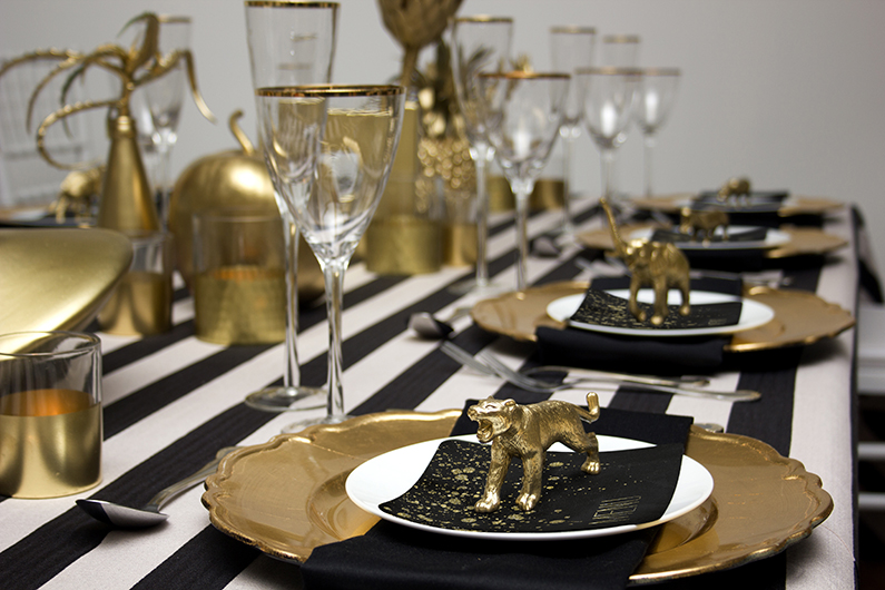 AFRICAN GOLD WEDDING TABLE  – TAKE 1