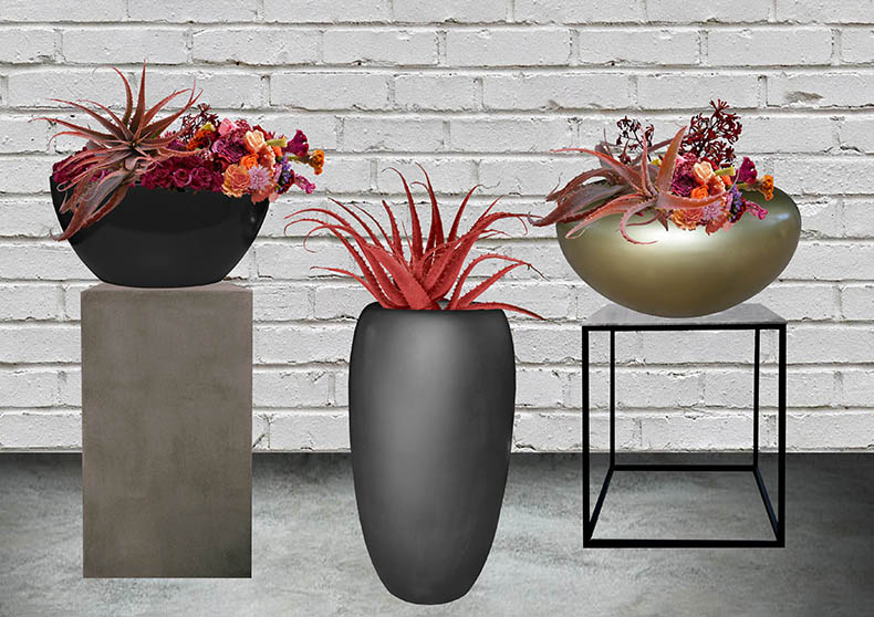 Containers and Plinths for Large Floral Features